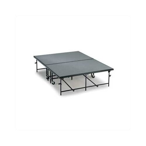 "Midwest Folding Products 8"" x 6' x 8' Mobile Stage with Hardboard or Polypropylene Deck"