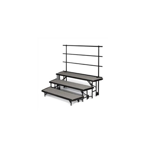 "Midwest Folding Products Backrails for Standing Risers for RTRP3 (70 3/8"" W)"