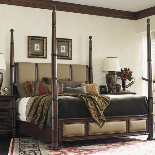 Tommy Bahama Home Landara Monarch Bay Four Poster Bed