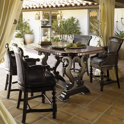 tommy bahama home kingstown sienna bistro dining table reviews