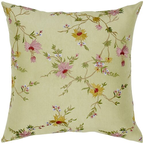 India's Heritage Dupioni Embed Silk Pillow