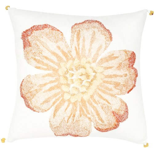 India's Heritage Single Flower Embroidery Pillow