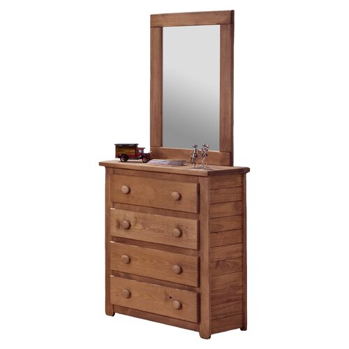 Chelsea Home Jumbo 4 Drawer Dresser with Mirror