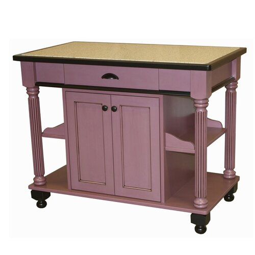 Chelsea Home Nigella Kitchen Island with Granite Top
