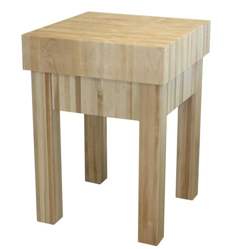 Michael Prep Table with Butcher Block Top