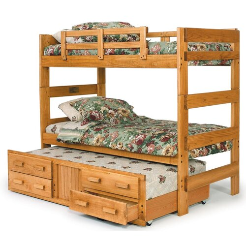 Extra Tall Twin over Twin Standard Bunk Bed with Trundle