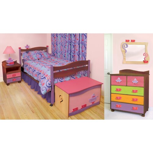 Room Magic Girl Teaset Twin Slat Bedroom Collection