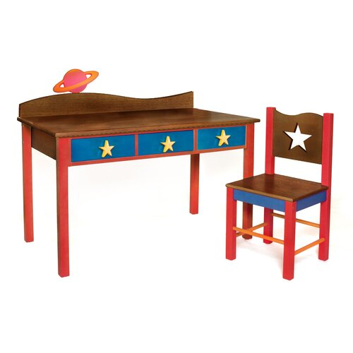 Room Magic Star Rocket Kids' 2 Piece Table and Chair Set