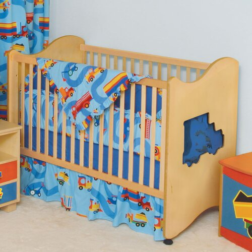 Room Magic Boys Like Trucks 3-in-1 Convertible Crib