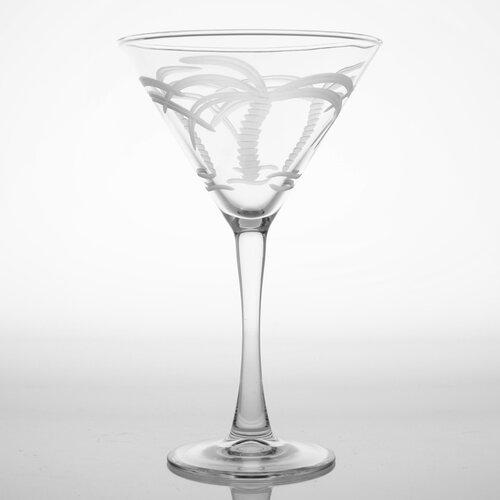 Rolf Glass Palm Tree 10 Oz Martini Glass