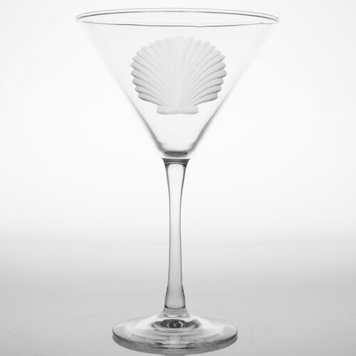 Seashell 10 Oz Martini Glass (Set of 4)