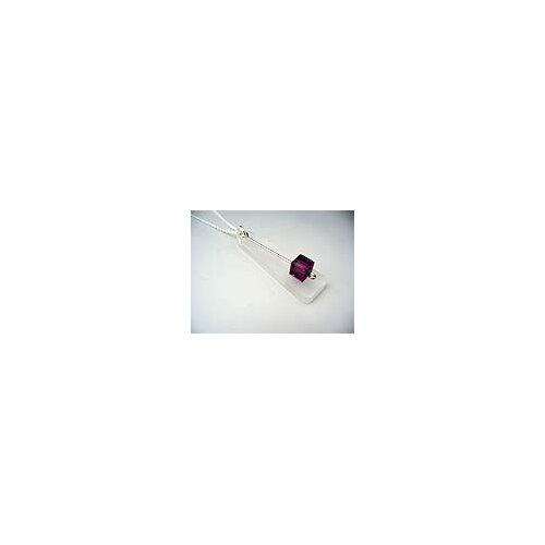 Dulcet Designs Lightweight Acrylic Sterling Silver Swarovski Crystal Birthstone Necklace