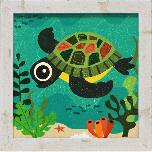 Terrance Turtle Framed Graphic Art