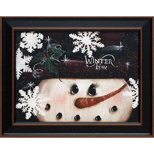 Winter Time Framed Painting Print