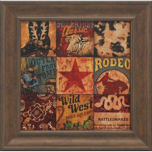Cowboy Collage Framed Graphic Art