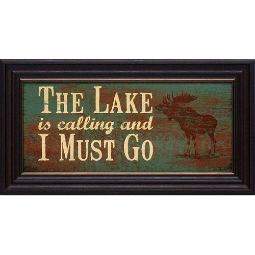 The Lake is Calling Framed Textual Art