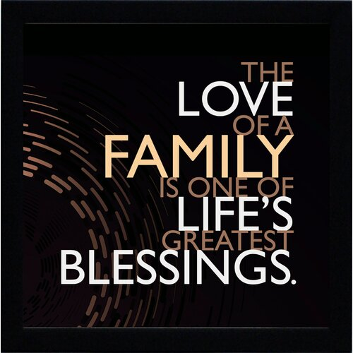 Artistic Reflections The Love of a Family Framed Textual Art