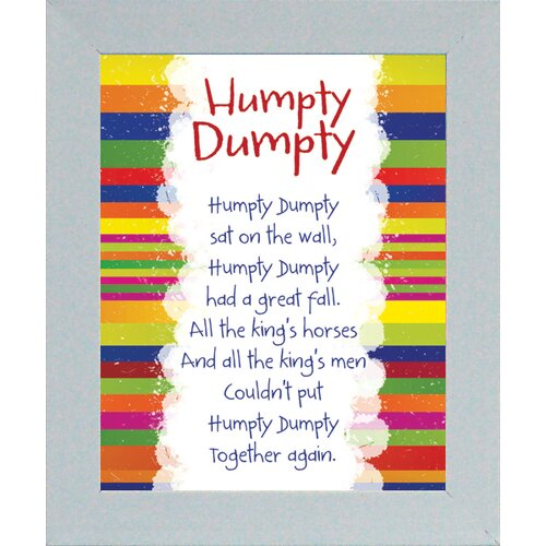 Artistic Reflections Humpty Dumpty Framed Textual Art