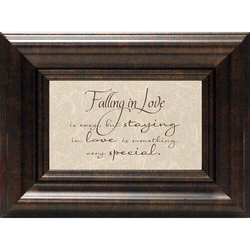Artistic Reflections Falling in Love Is Easy Framed Textual Art