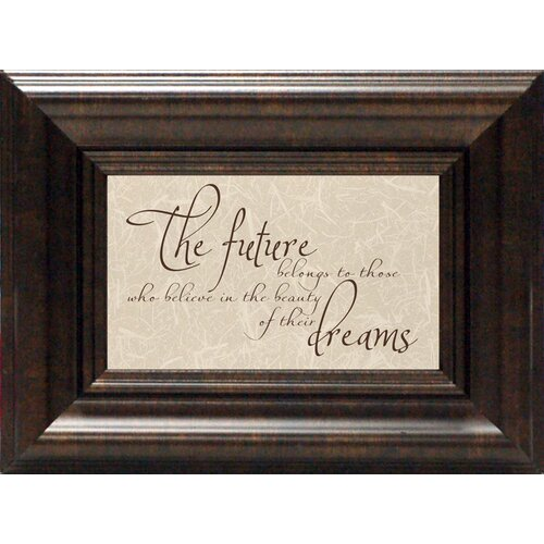 Artistic Reflections The Future Belongs To Framed Textual Art