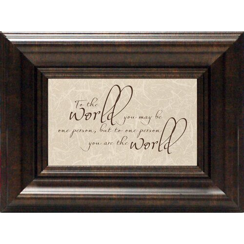 To The World Framed Textual Art
