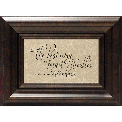 The Best Way to Forget? Framed Textual Art