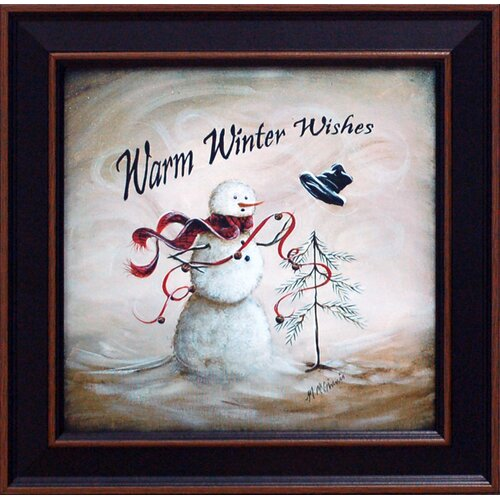 Warm Winter Wishes Framed Graphic Art
