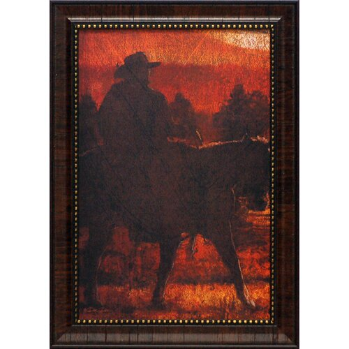 Sunset Rider Framed Graphic Art