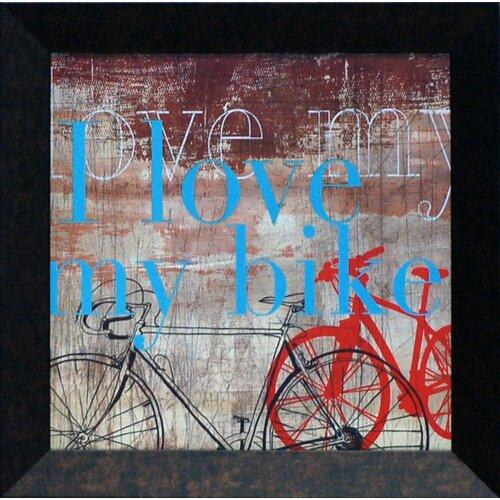 Love My Bike Framed Graphic Art
