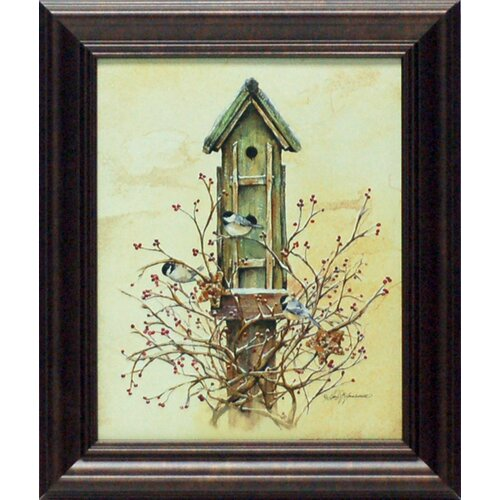 Winter Home Framed Painting Print