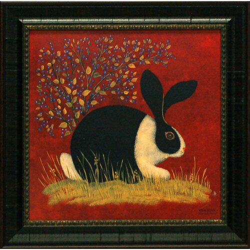 Blue Berry Bunny Framed Painting Print