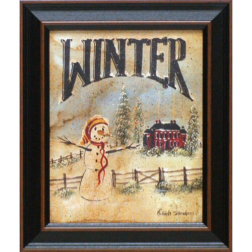 Winter Framed Graphic Art