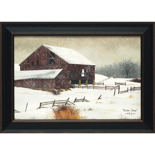 Winter Storm Framed Painting Print