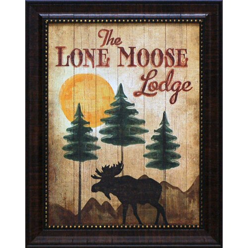 Artistic Reflections The Lone Moose Lodge Framed Vintage Advertisement