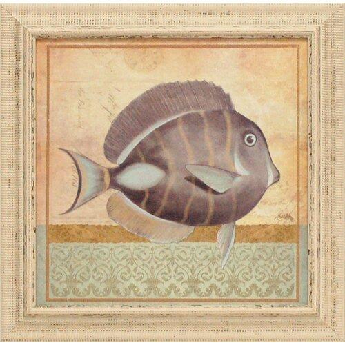 Vintage Fish II Framed Graphic Art