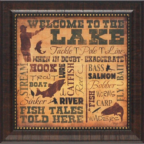 Welcome to the Lake Framed Textual Art