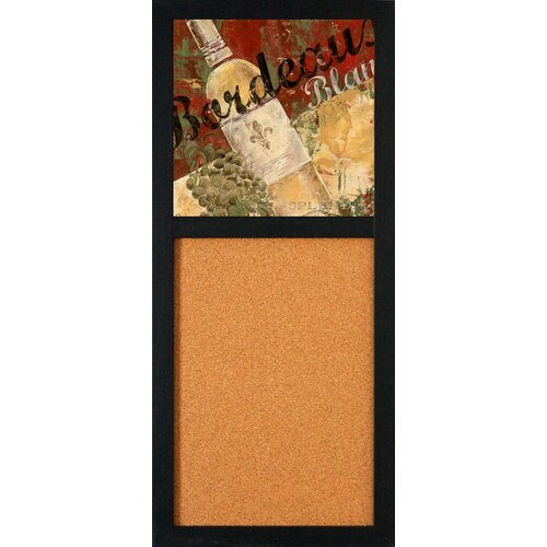 "Artistic Reflections Bordeaux Blanc 2' 8"" x 1' 2"" Bulletin Board"