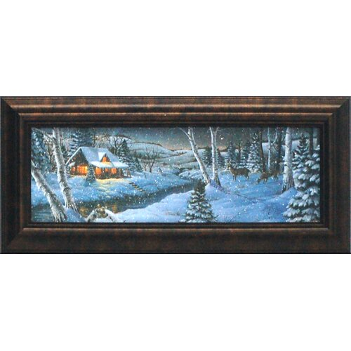 A Winter's Night Framed Painting Print