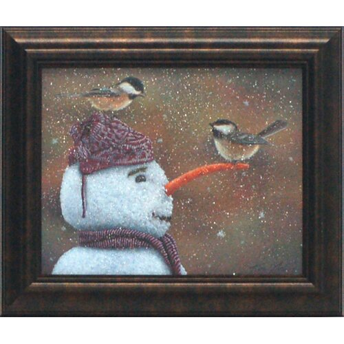 Winter Visitors Framed Painting Print