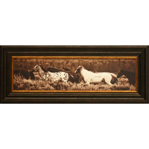Sepia Horses Framed Photographic Print