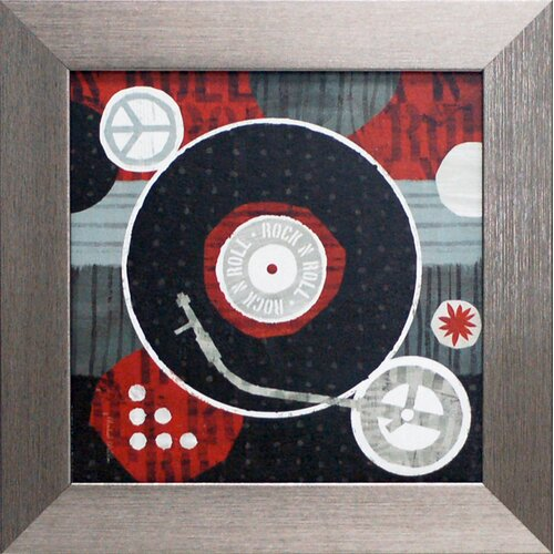 Artistic Reflections Rock n Roll Album Framed Graphic Art