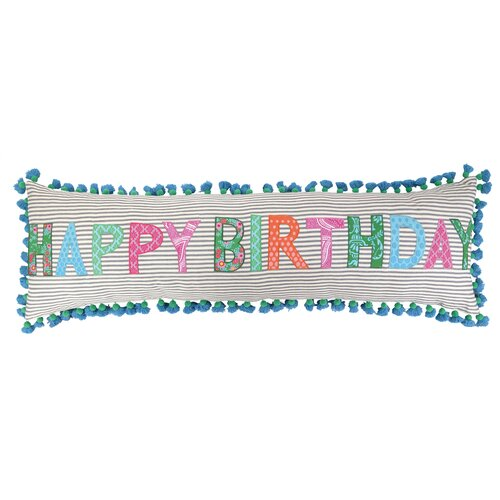 Sis Boom by Jennifer Paganelli Happy Birthday Cotton Pillow
