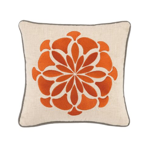 Bahir V Linen Embroidered Pillow