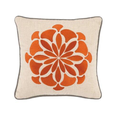 Bahir V Linen Embroidered Pillow
