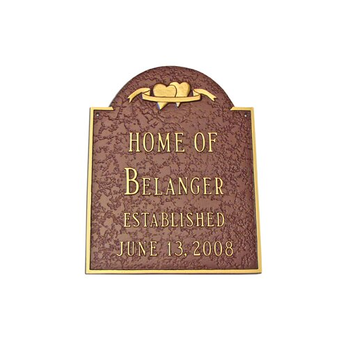 Two Hearts Wedding Address Plaque