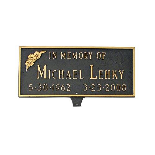 Memorial Plaque with Flower