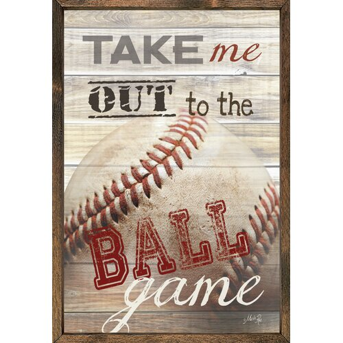 Magnet Art Print Take Me Out To the Ball Game Framed Wall Art
