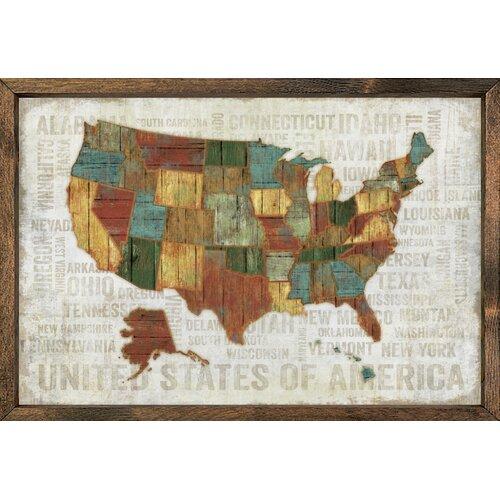 Magnet Art Print United States Of America Framed Wall Art