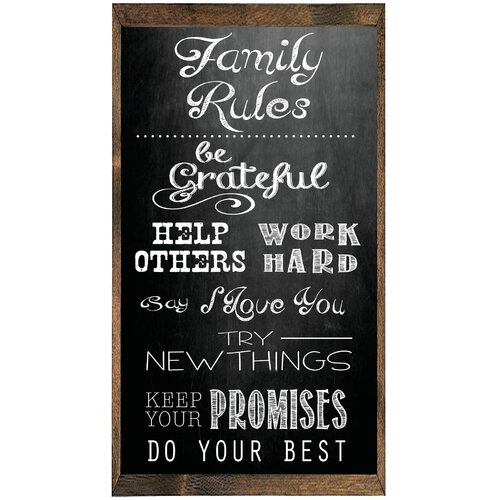 Magnet Art Print Family Rules…etc Framed Wall Art