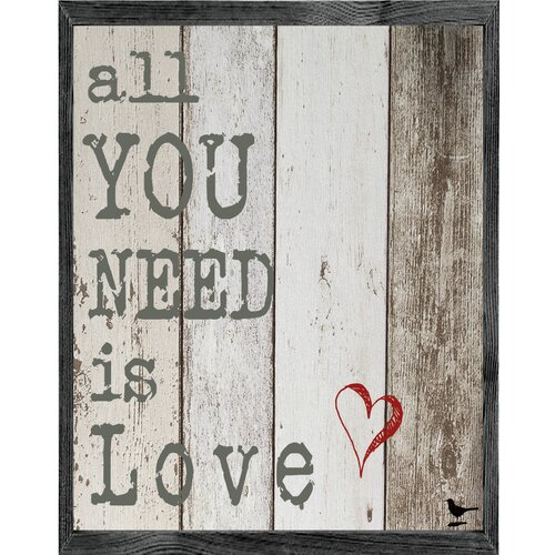 Magnet Art Print All You Need is Love Framed Wall Art